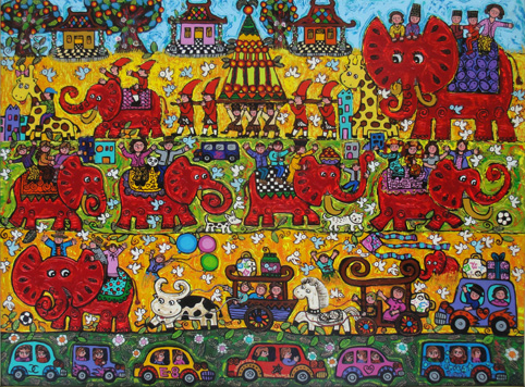 Erica_Parade-of-Happy-Harvesting_150x200-cm(2013)Oil-on-Canvas_without-frame_small