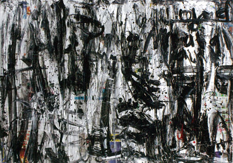 After Text Series, Black White, 2010, acrylic on canvas, 150 x 200 cm
