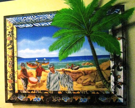 Satu dari dua mural yang dibuat dengan waktu yang sangat pendek untuk ditampilkan di Gelar Seni Budaya Pesisir 2013. Karya tersebut hasil kreatif Bayu, Nurkholis, dan Condro, mahasiswa seni rupa Unesa (Surabaya)