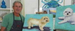 Salah satu karya lukis mantan presiden Amerika Serikat, George W. Bush, hasil mengisi waktu luang di masa pensiun.