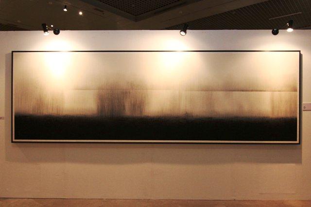 Moon Bong-Sun, Fog 4, 400 x 124 cm, Ink on Paper, 2010