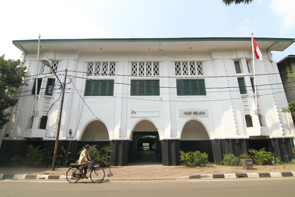 Tampak depan bangunan di Jalan Malaka 7-9 yang akan digunakan oleh IKJ