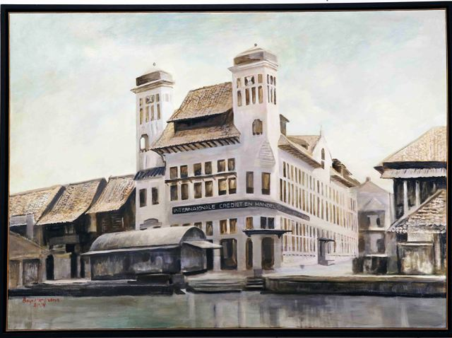 Tjipta Niaga building, 95x 130 cm, Oil on canvas