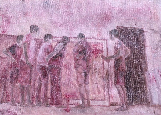 Theo Frids Hutabarat, The Horse, Oil on Canvas, 29x21 cm, 2015.