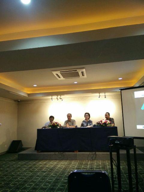 Pembicara dalam konferensi pers HUT IKJ ke-45