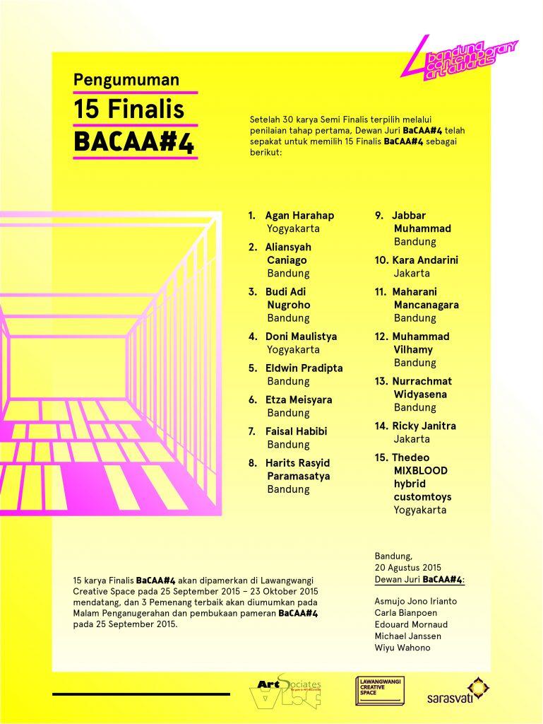 Pengumuman 15 Finalis BaCAA #4