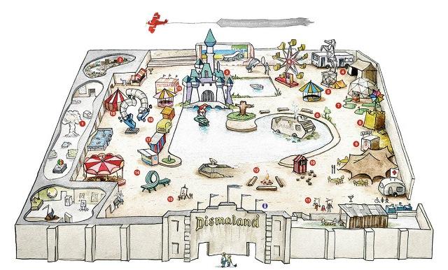 Peta Dismaland (sumber: thisiscolossal.com)
