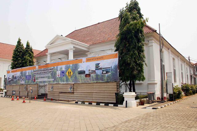 Tampak depan Gedung A Galeri Nasional setelah