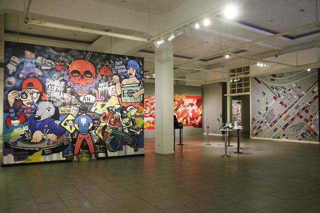 Mural karya Milisi Mural Depok pada pameran