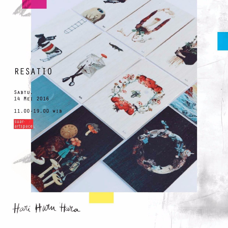 Karya Resatio yang akan hadir di bursa karya seni Hari Huru Hara (sumber: Suar Artspace)