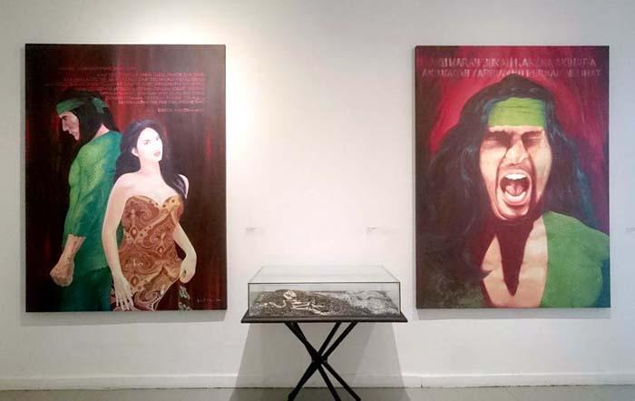 Instalasi karya Yuli Asmanto. (Foto: Renjana Widyakirana)