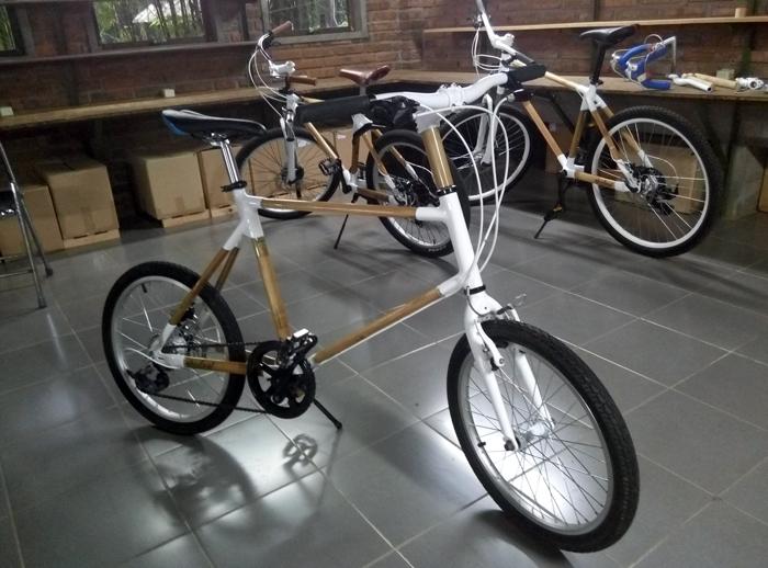 Spedagi, sepeda bambu karya Singgih S. Kartono. (Foto: Dewi Ria Utari)