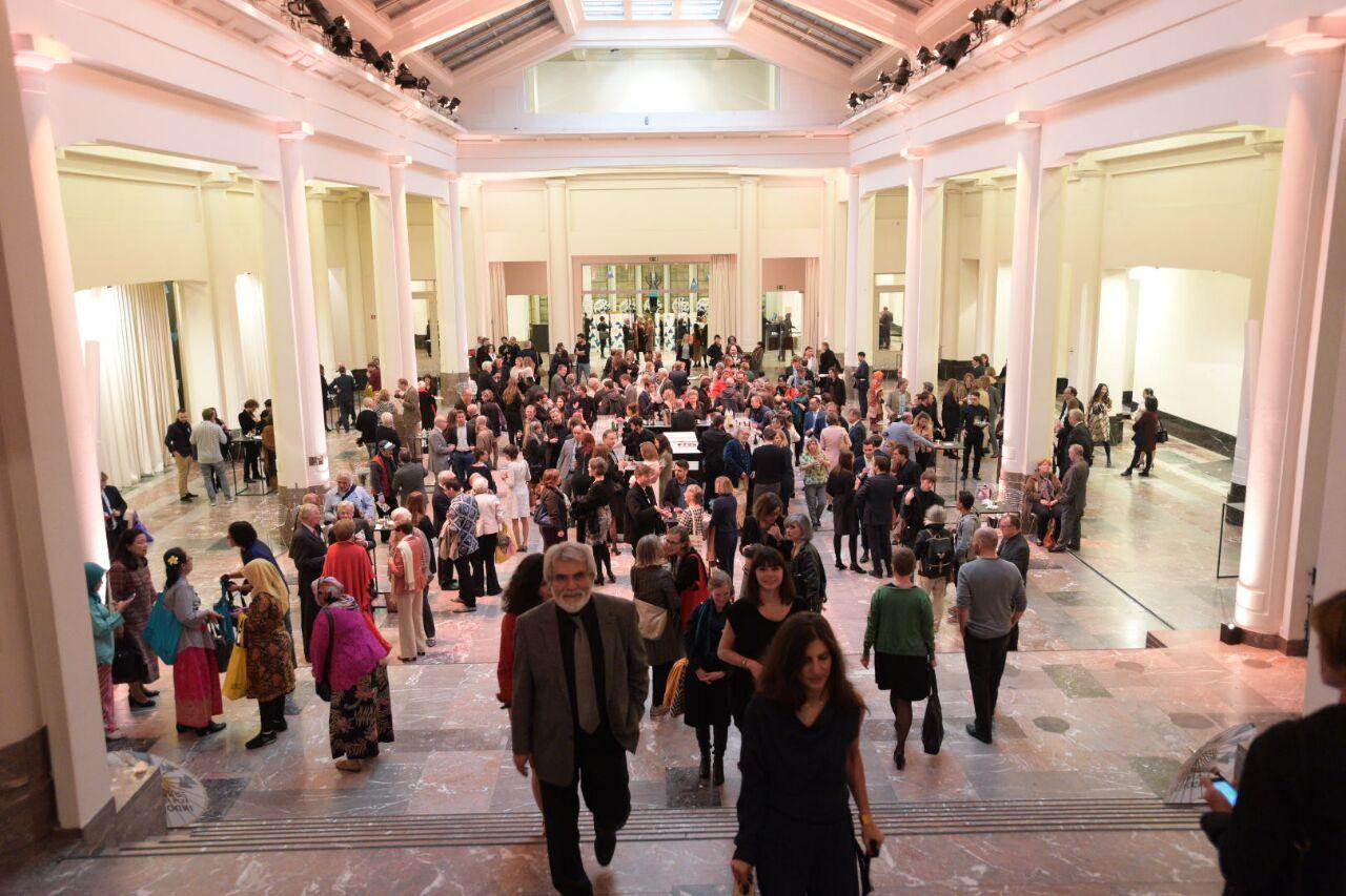 Pengunjung pembukaan Europalia Arts Festival Indonesia 2017. (Foto: Feri Latief)