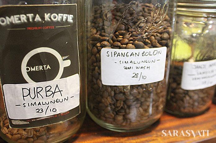 Kopi-kopi Sumatera yang ada di Omerta Koffie