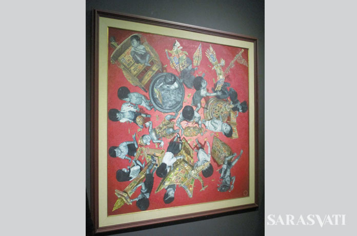 Masterpiece of Indonesia, 150x150 cm, oil on canvas, 1996-1997