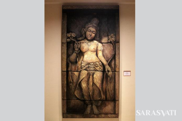 Heru Uthantoro, Dewi Tara, 100 x 200 cm, Acrylic on Canvas, 2014