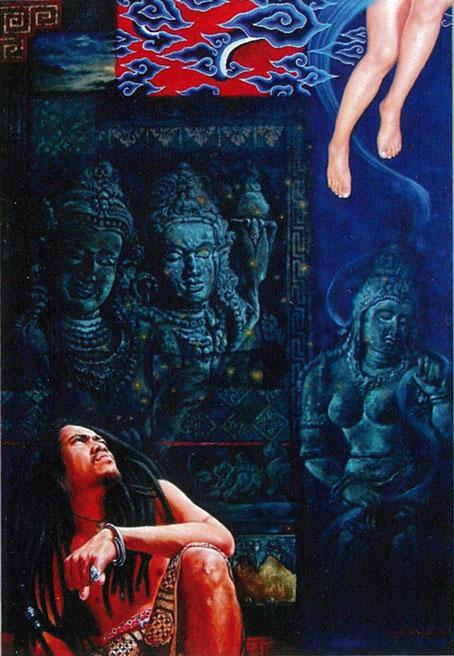 Syis Paindow, Jaka Tarub in My Mind (the legend of Jaka Tarub series), 2012, oil on canvas, 2012