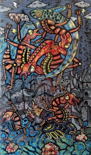 Tomcat-Attack,-90x53-cm,-MDF-Cut-on-Garda-Paper-200-gsm-(2013,-3-edisi)_small