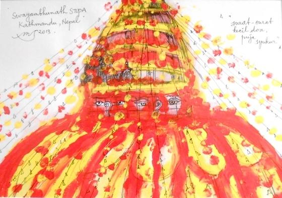 Swayanbhunat Stupa, 21x29,7cm, 2013