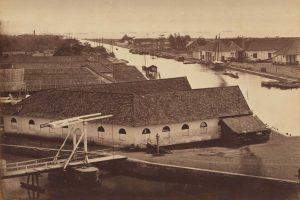 Batavia roadstead c.1865. Albumen silver photo. WOODBURY & PAGE, NGA Collection