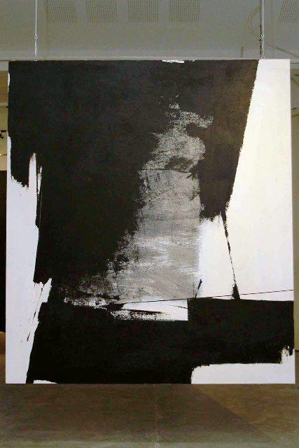 Migrasi Kolong Meja #3-1, Hanafi, 250 x 220 cm, Akrilik di atas kanvas, 2014