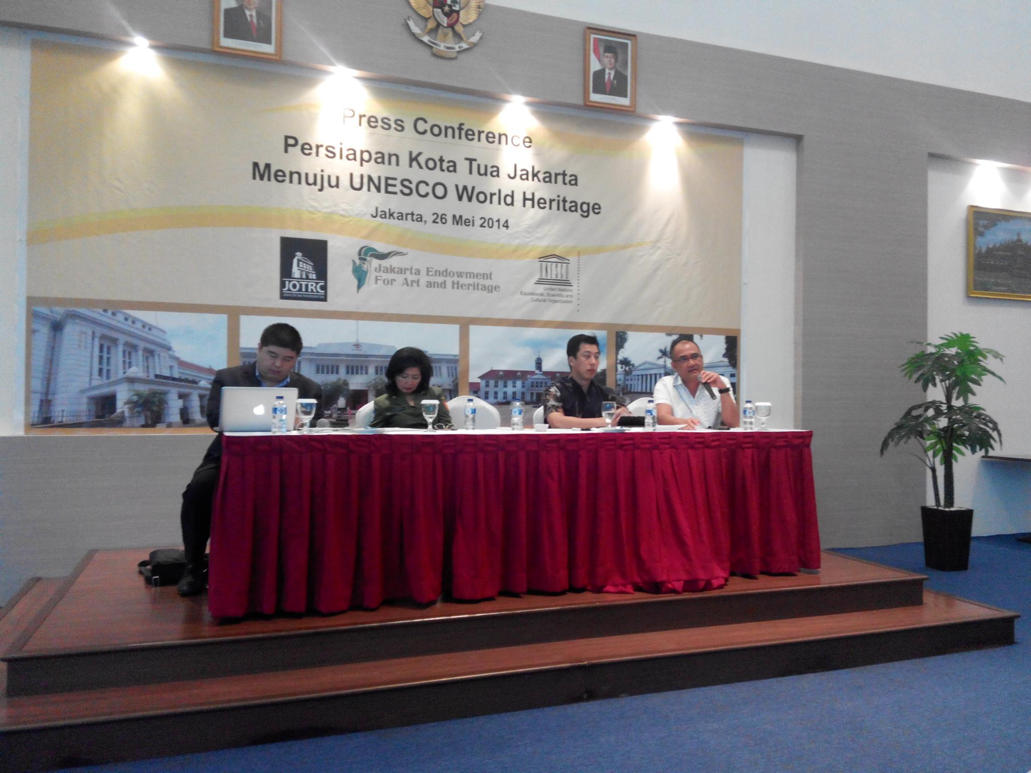 Konferensi pers 'Persiapan Kota Tua Jakarta Untuk Nominasi UNESCO World Heritage site