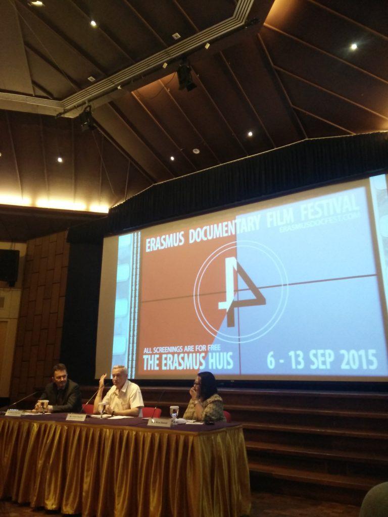 Konferensi pers Erasmus Documentary Film Festival 2015