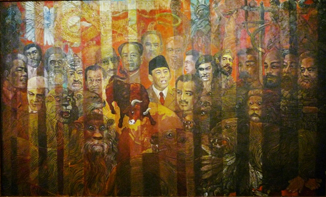 Patriotisme vs Imperialisme, Oil on Canvas, 150x250 cm, 2010.