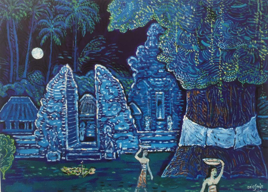 'Ceremony Full Moon' (1994), salah satu karya Arie Smit yang dikoleksi Museum Seni Neka, Ubud, Bali