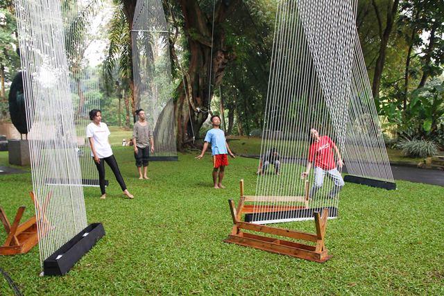 Proses latihan tari Gelombang oleh peserta SKDC. Foto: Jacky Rachmansyah