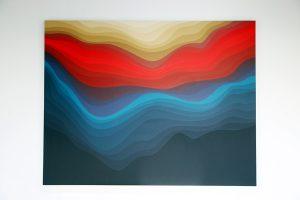 Arkiv Vilmansa, 4 115ra2, acrylic on canvas, 140x18 cm, 2016. (Foto: Jacky Rachmansyah)