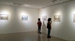 """Karya reproduksi Profesor Chen Yang-Chun asal Taiwan dipamerkan dalam tajuk """"The Beauty of Taiwan""""di Galeri Nasional Indonesia, Jakarta, 9-16 September 2016. (Foto: Silvia Galikano)"""