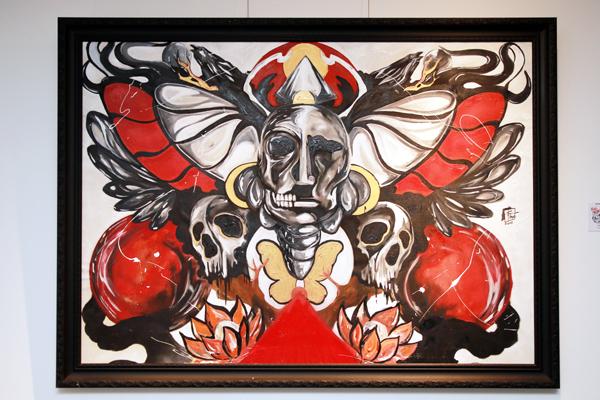 SAFRIE EFFENDI, Tribe, 120x157 cm, Acrylic on canvas, 2015. (Foto: Jacky Rachmansyah)