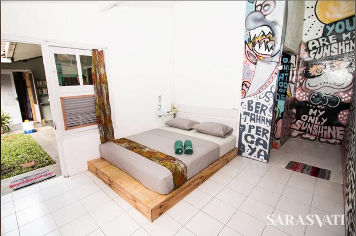 Kamar-kamar memiliki tema tersendiri, yakni Jungle, Beach, Graffiti, dan Junkyard. (Dok. Hotel Abrakadabra)