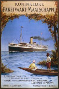 Poster kapal uap Koninklijke Paketvaart-Maatschappij.