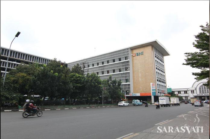 Gedung Bank BNI di Jalan Lada, Kotatua Jakarta.