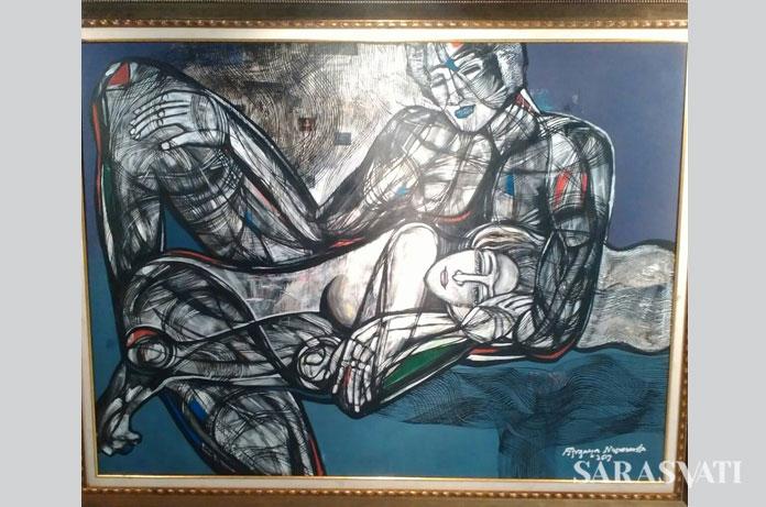 Unconditionally Love, Acrylic on Canvas 200 x 150 cm 2017 karya Fitrajaya Nusananta