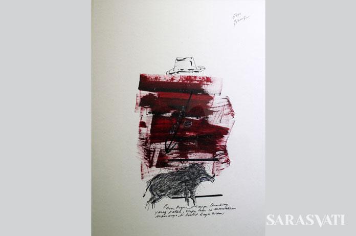 Topi 4, 37 x 29,5 cm, 2017