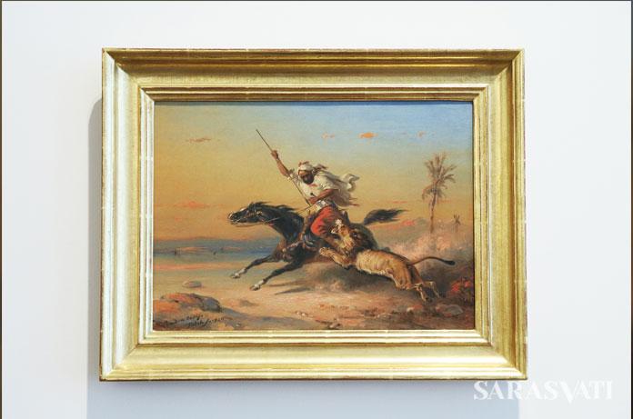 Raden Saleh, Araber zu Pferd